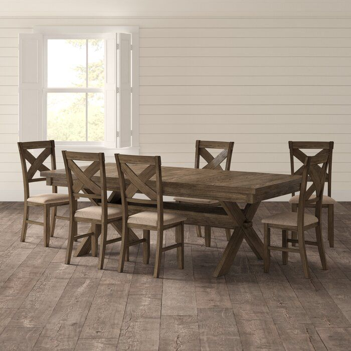 Poe Extendable Dining Set Large Dining Room Dining Set Dining