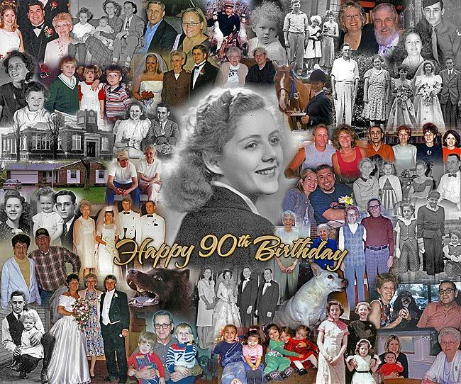 90th+birthday+party+ideas+Mother | Collage Idea | Customized Picture Collages | Photographic Gift Ideas ...