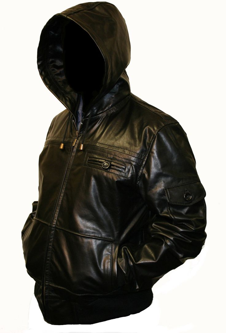 Men's Hooded Leather Jacket | Hooded Leather Jacket in Quality Natural Skins with Italian Design ...