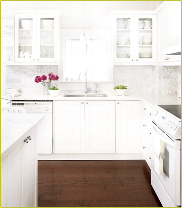 kitchens with white cabinets and white appliances - Kitchen Remodel With White Appliances