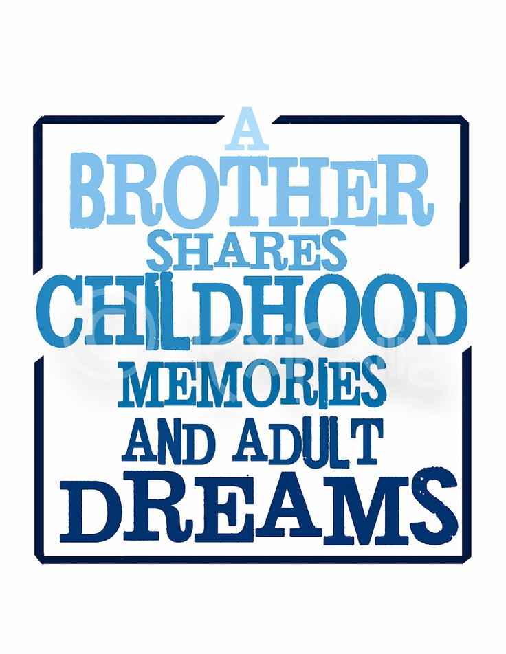 BROTHER Two pack Prints - 8x10 - Being a brother is better than being a superhero - A Brother shares childhood memories and adult dreams. $18.00, via Etsy.