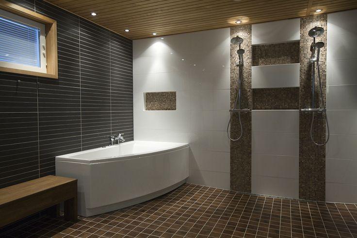 10 best kylpyhuone images on pinterest bathrooms for Sauna bathroom ideas