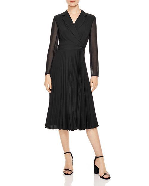 2b1ed12395e Sandro - House Faux Wrap Midi Dress