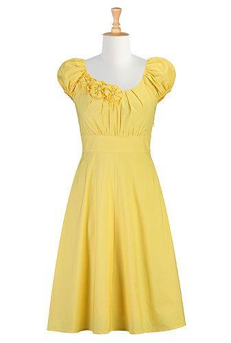 Rosette trim dress