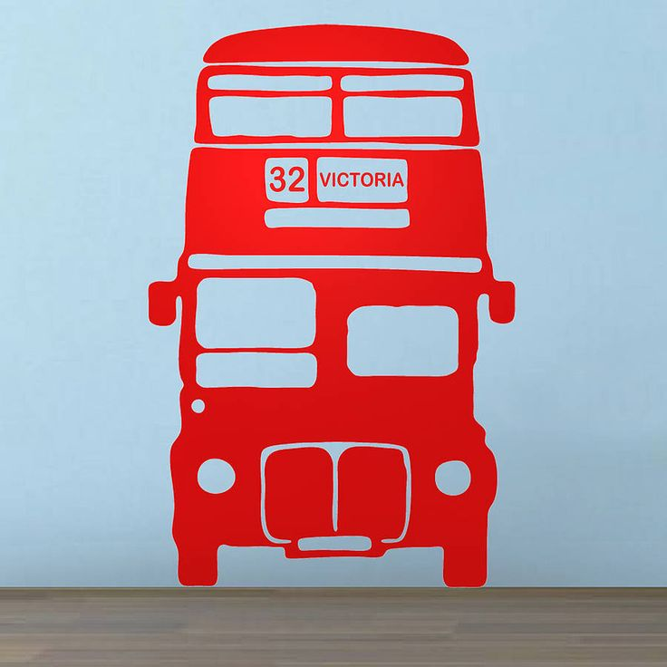 A BIG RED BUS London Bus vinyl wall sticker by Oakdene Designs on Not On The High Street. Choose from 9 colours and the route and destination number can be personalised.
