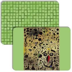Las Pinturas de Joan Miró is a memory matching game (like Concentration).  It has the following match cards: 112, joanmiro2, miro, miro12, mrerm, mujeres-y-pajaro-en-el-claro-de-luna-joan-miro, Naturaleza_muerta_zapato_viejo_1937