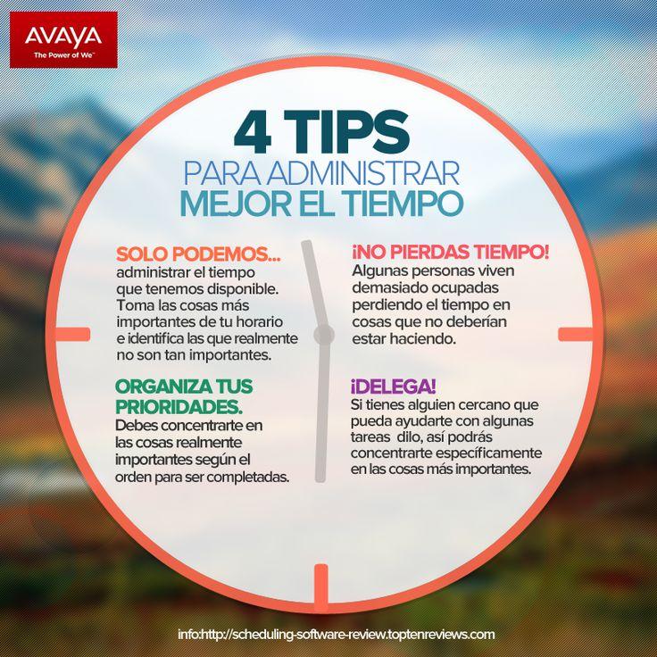 4 Tips para administrar mejor el tiempo @Avaya_Latam