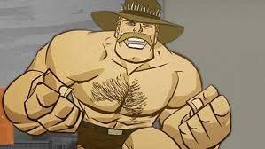 saxton hale- jeden z bossów w tf2 jest bardzo silny powala na jeden strzał walczy tylko pięściami