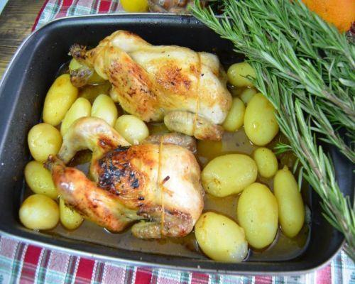 Pollo-picanton con citricos y miel de romero