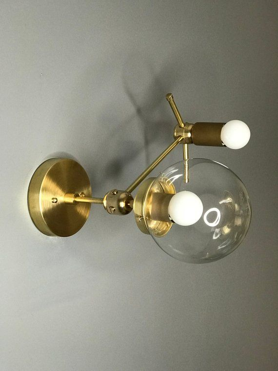 Gold Roh Messing Seine Wand Sconce Moderne Industrielle