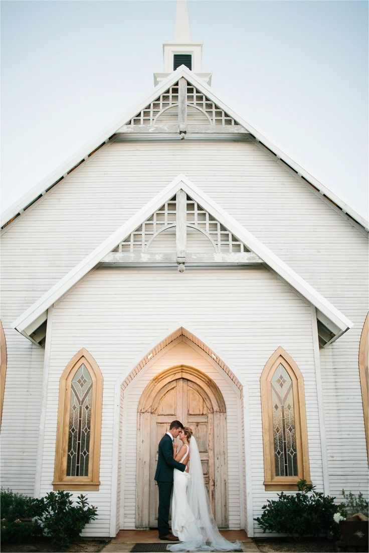 32 best church wedding inspo images on pinterest church weddings gorgeous wedding couple shot in front of the church biocorpaavc Gallery