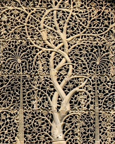 Fretwork from famous Ahmedabad - Sidi Saiyed mosque - also go to Art Book Center for textile books