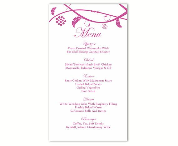 The 25+ best DIY menu cards template ideas on Pinterest DIY - menu template for word