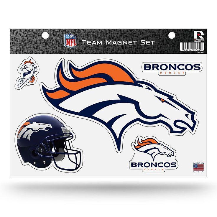 Denver Broncos Team Magnet Set, Multicolor