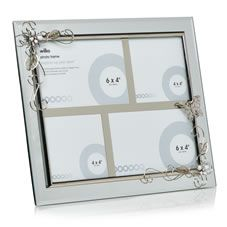 This elegant, mirrored glass multi aperture photo frame     with its delicate…