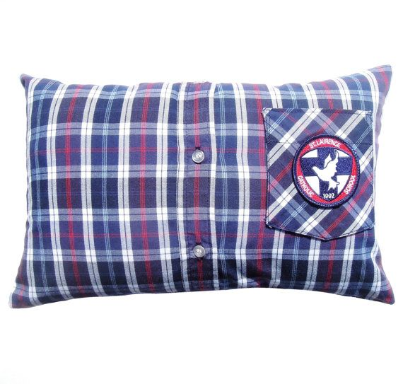 Catholic School Uniform Shirt Custom Made into Keepsake Pillow, Memory Pillow, Graduation Gift