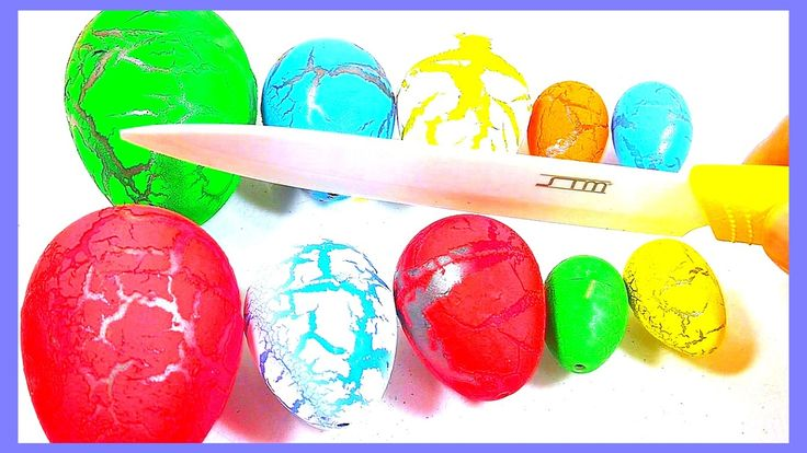 BEST EGGS !!! Dinosaur Eggs Toys After 48 hours Incubation - Learn Colours for Children