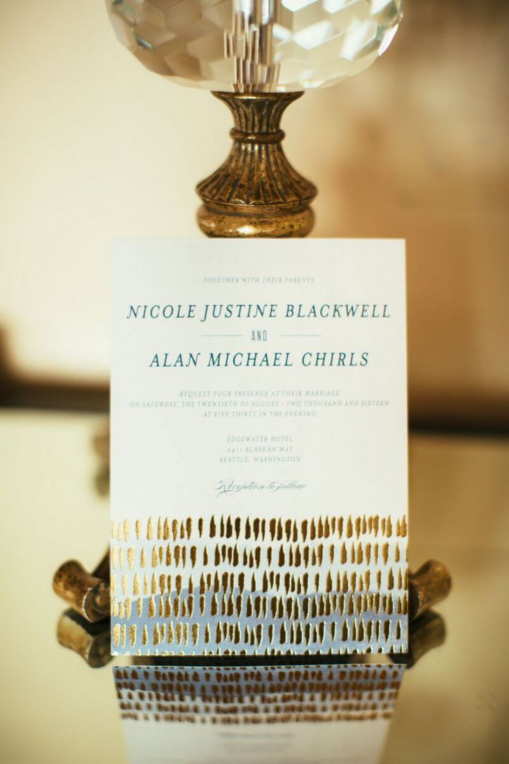wedding invitations from michaels crafts%0A Chic Seattle Waterfront Wedding