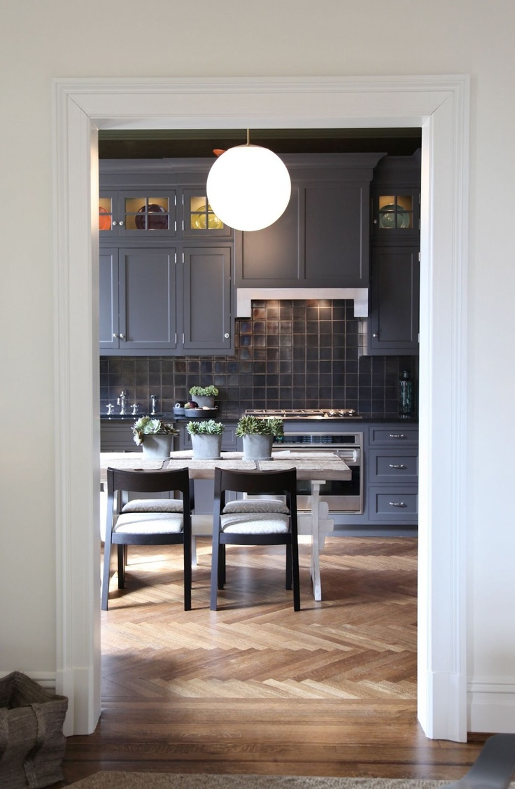 Love the greys and the awesome wood flooring!!!