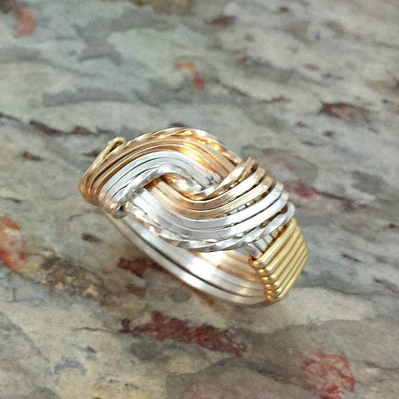 TEMPTRESS RING Sterling and Gold Symbolic par MySecretHeartJewelry