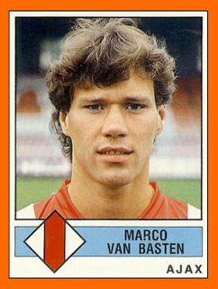 Marco van Basten with Ajax, 1986.