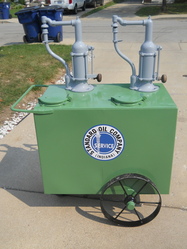 Standard Oil Double Lubester On Cart Restored Dispenser