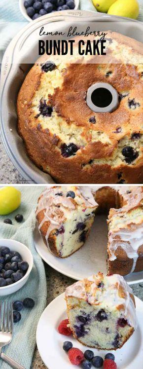 Machen Sie diese Zitronen-Blaubeer-Bundt-Kuchen-Rezepte. Es ist ein einfaches und leckeres Bundt …   – Desserts