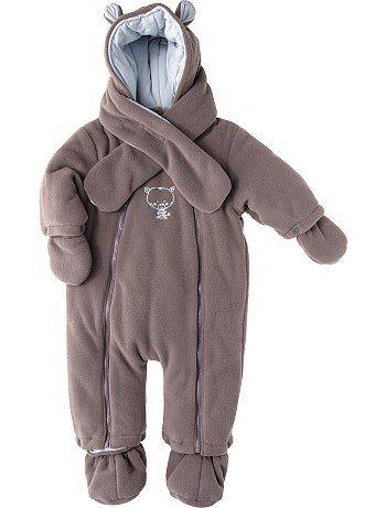 Combinaison polaire avec gants et écharpe                                                                                         ...