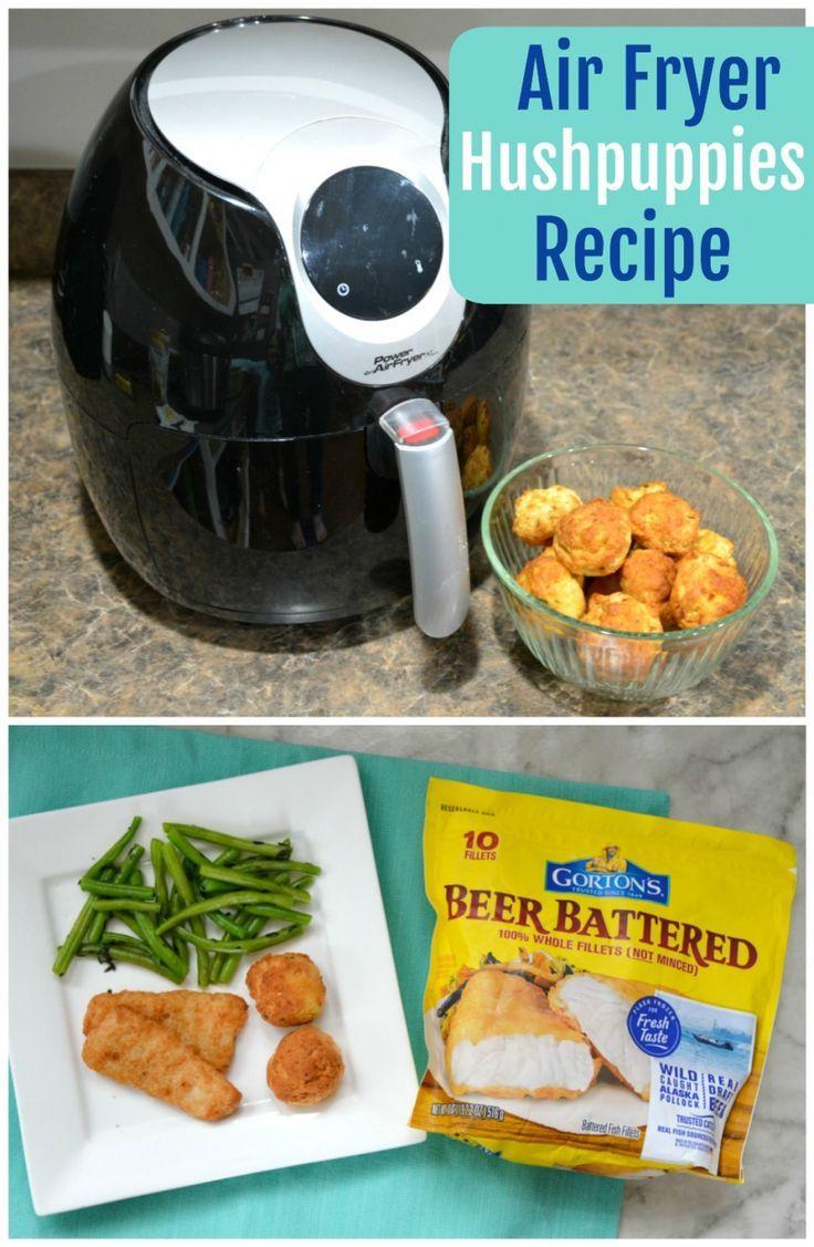 Sponsored Air Fryer Hushpuppies Recipe Hush Puppies Recipe Food Recipes Air Fryer Recipes