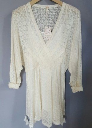 Free People Kleid, XS-S, nude, creme