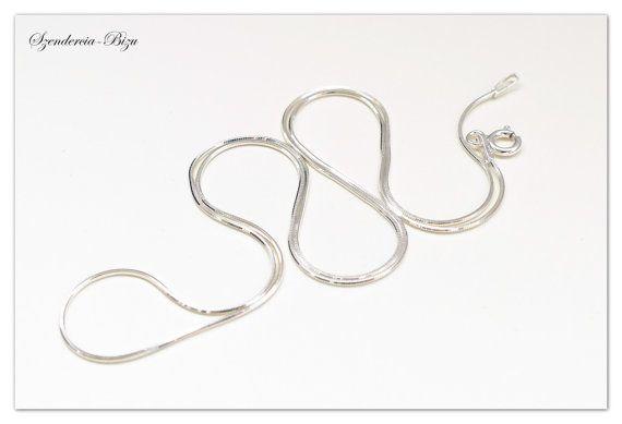 Silberkette Snake 45cm Schlangenkette Sterlingsilber von Szendercia