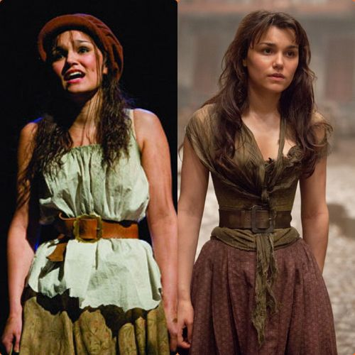 Samantha Bark as Eponine in the 25th and film. I love the different costumes...