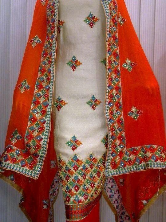 Phulkari suit boutique designs pinterest suits
