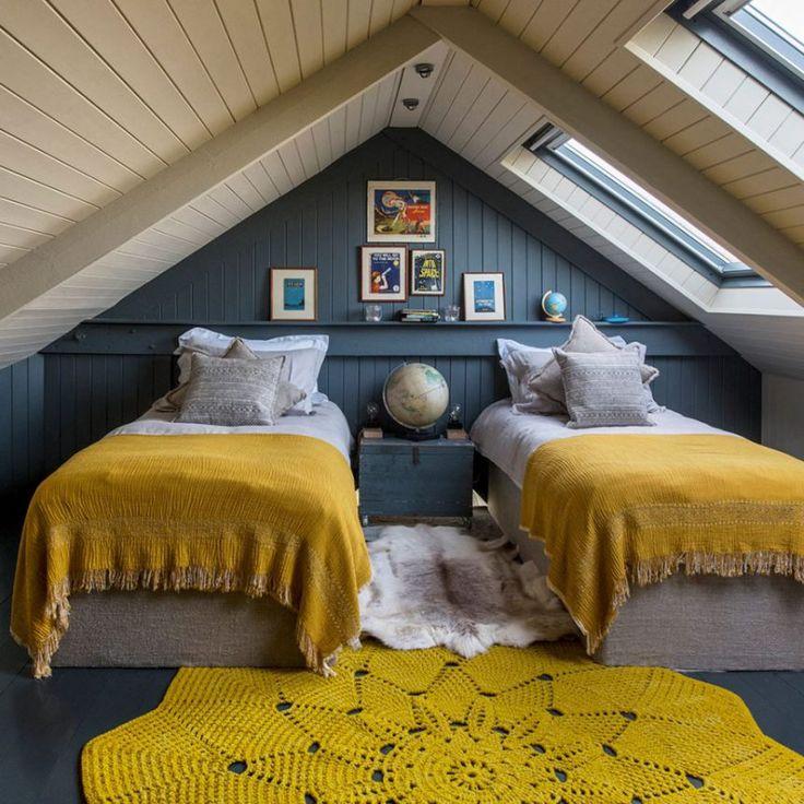 casa rústica familiar, dormitorio niños