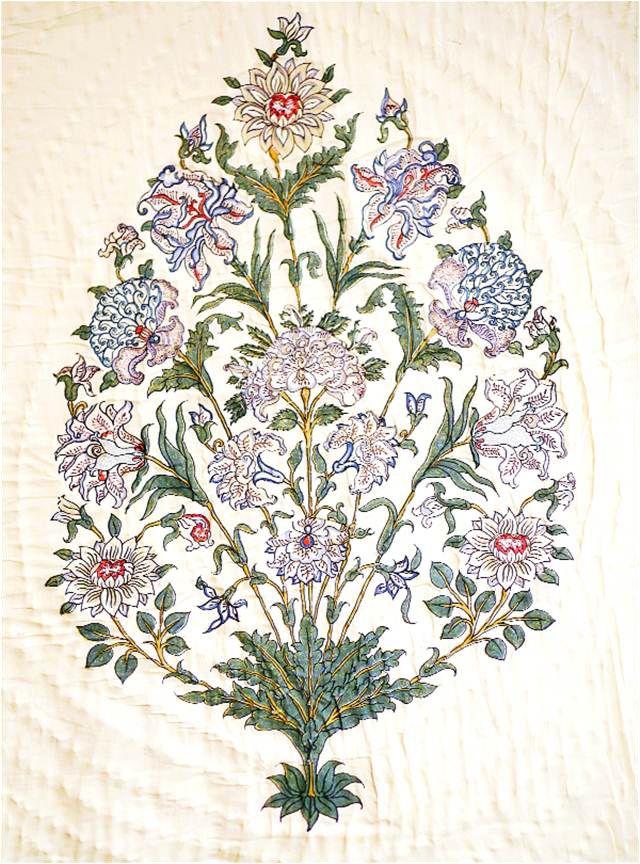 brigitte singh mughal bouquet fabric pinterest