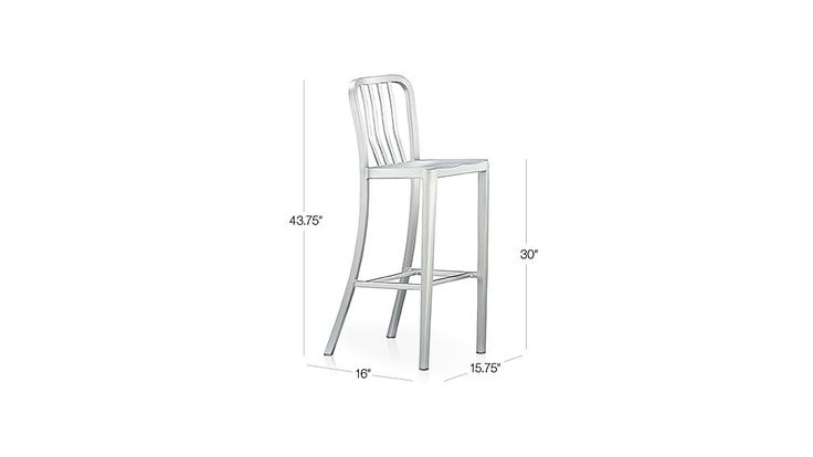 Summer Kitchen Bar Stool?  $149  Delta Aluminum Bar Stool | Crate and Barrel