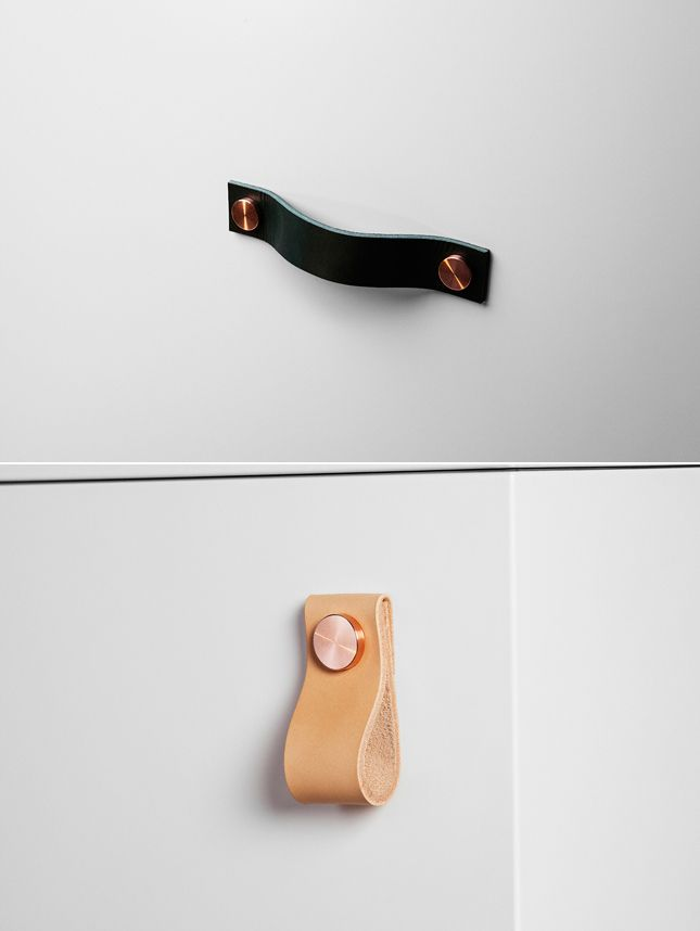 Individual leather handles for #Ikea cabinets by 'Superfront'