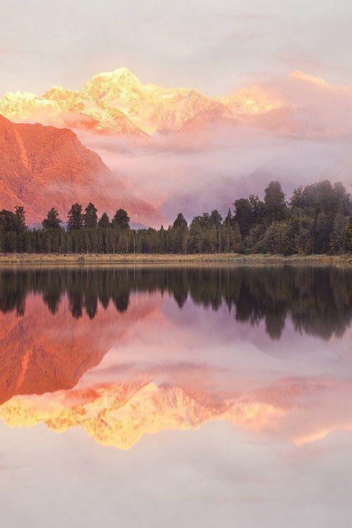 "miraclemist: ""Lake Matheson, New Zealand, by Darren J Bennett """