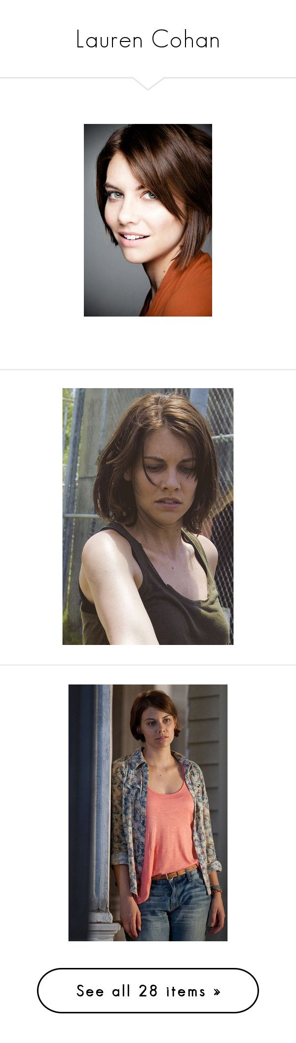 """""""Lauren Cohan"""" by starlightpa ❤ liked on Polyvore featuring the walking dead, walking dead, the vampire diaries, vampire diaries, twd, lauren cohan, people and nina dobrev"""
