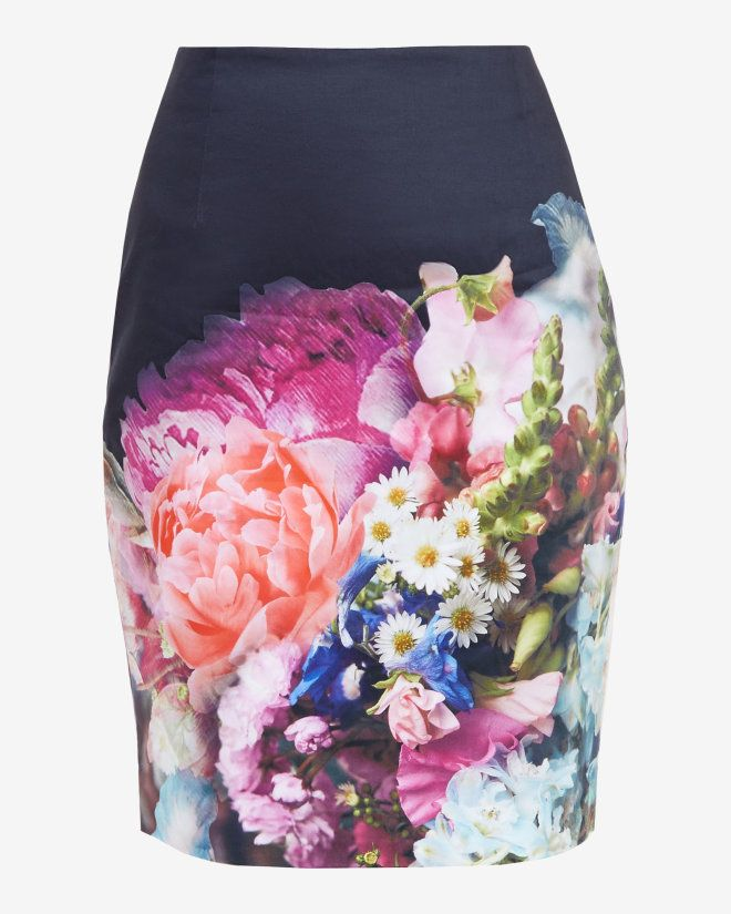 Focus Bouquet pencil skirt - Dark Blue | Skirts & Shorts | Ted Baker