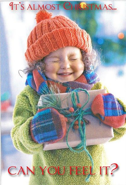 This little girl's holiday excitement and anticipation is almost palpable with her adorable expression here!