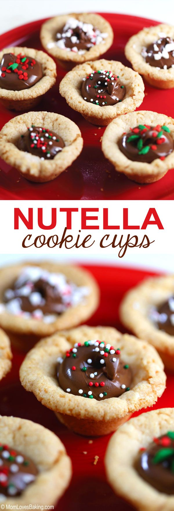 Nutella Cookie Cups are literally as easy as 1-2-3! With just 3 ingredients, you can have them done in no time! And you don't have to STRESS OUT! Kids can make them too!