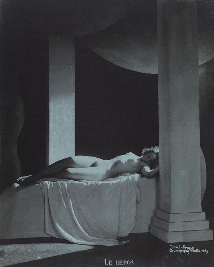 Le Repos, 1920's, Frantisek Drtikol. (1883 - 1961)