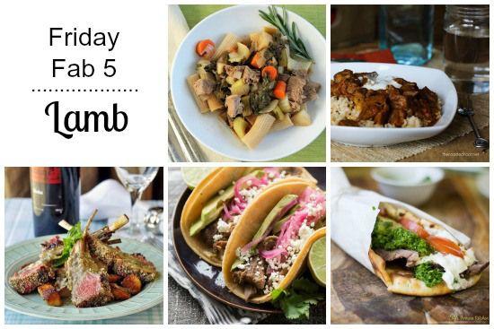 Friday Fab 5: Lamb Recipes | snappygourmet.com