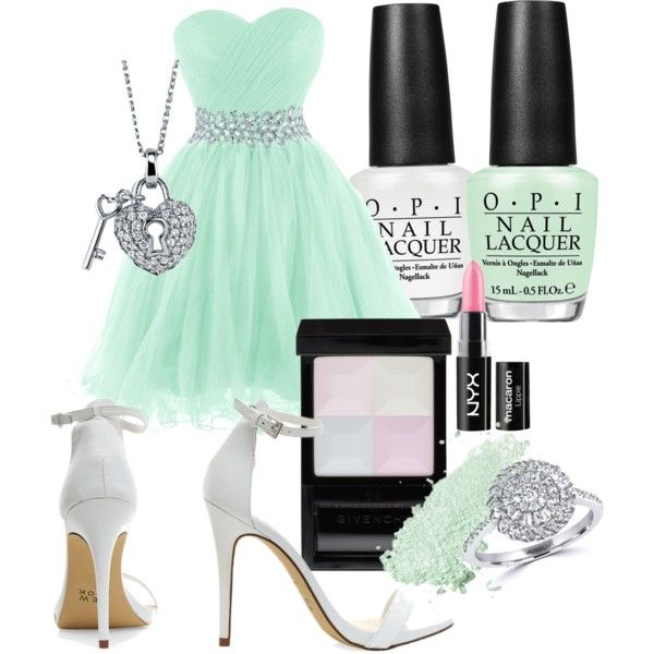 Cute prom by rowniezhao on Polyvore featuring polyvore, fashion, style, Effy Jewelry, BERRICLE, Givenchy, NYX and OPI
