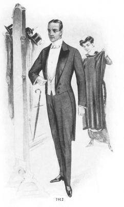 Unsere Abendmode für den feinen Herren anno 1912.
