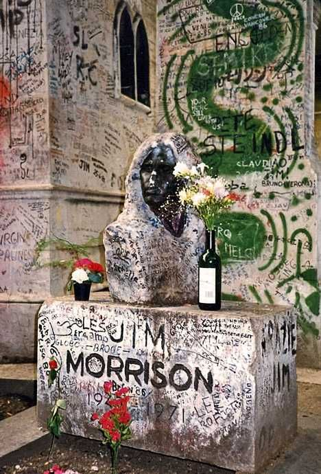 Jim Morrison's grave in Paris is one of the most vandalized landmarks in the world.