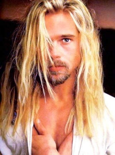 Brad Pitt.: Eye Candy, Legends, Rolls Stones, Long Hair, Bradpitt, Longhair, Hollywood Men, Brad Pitt, Fall Brad