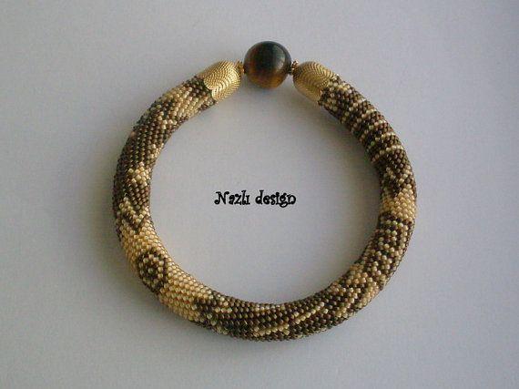 Emek Pinari  Beaded bracelet  Beaded Crochet Bracelet   by NAZLI70, $40.00
