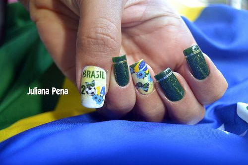 Nail Art World Cup Brazil 2014!! by ✿ Juliana Pena ✿, via Flickr